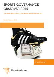 Sports governance observer 2015 : the legitimacy crisis in international sports governance / Arnout Geeraert | Geeraert, Arnout