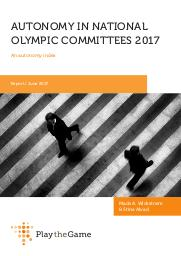 Autonomy in National Olympic Committees : an autonomy index / Stine Alvad and Mads Wickstrøm | Wickstrøm, Mads A.
