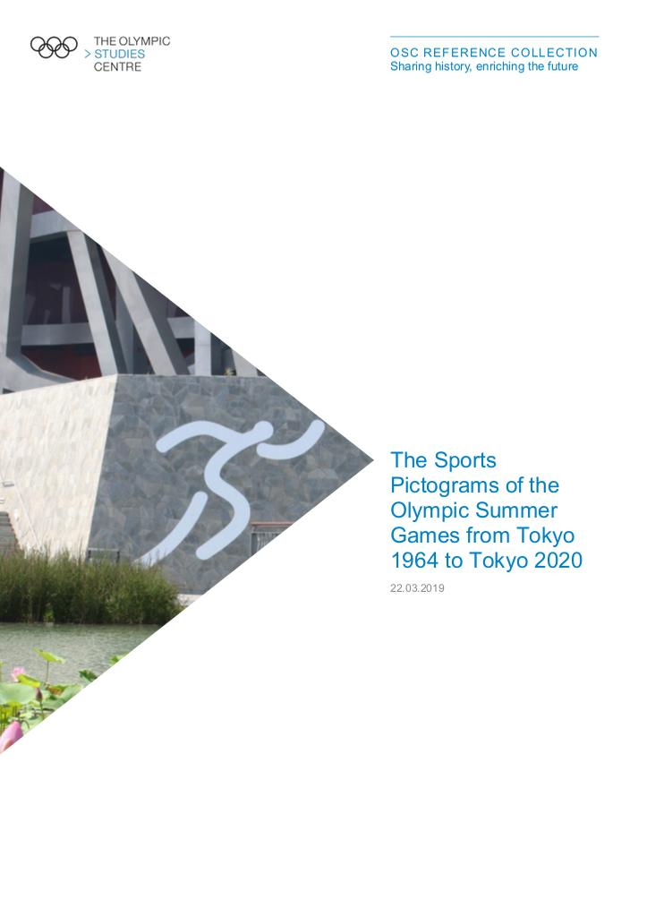The sports pictograms of the Olympic Summer Games from Tokyo 1964 to Tokyo 2020 / The Olympic Studies Centre | The Olympic Studies Centre
