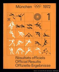 München 1972 : les résultats de la XXe Olympiade à Munich 1972 = = München 1972 : results of the Games of the XXth Olympiad in Munich 1972 = München 1972 : die Ergebnisse der Spiele der XX. Olympiade in Muenchen 1972 / réd. et publ. par le Comité organisateur des Jeux de la XXe Olympiade Münich 1972 | Jeux olympiques d'été. Comité d'organisation. 20, 1972, München