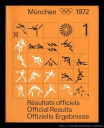 München 1972 : les résultats de la XXe Olympiade à Munich 1972 = = München 1972 : results of the Games of the XXth Olympiad in Munich 1972 = München 1972 : die Ergebnisse der Spiele der XX. Olympiade in Muenchen 1972 / réd. et publ. par le Comité organisateur des Jeux de la XXe Olympiade Münich 1972 | Jeux olympiques d'été. Comité d'organisation. 20, 1972, München
