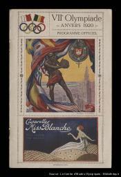 VIIe Olympiade Anvers 1920 : programme officiel : concours de natation au stade Nautique | Jeux olympiques d'été. Comité d'organisation. 7, 1920, Anvers