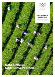 Sustainable sourcing in sport / International Olympic Committee   Comité international olympique