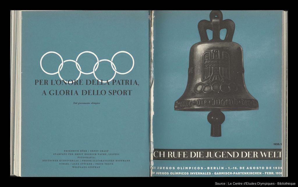 Guia de la XIa Olimpiada Berlin 1936 = Ich rufe die Jugend der Welt / Comite organizador de la XIa olimpiada Berlin 1936 ; [taller Friedrich Böer, Ernst Graef] | Böer, Friedrich
