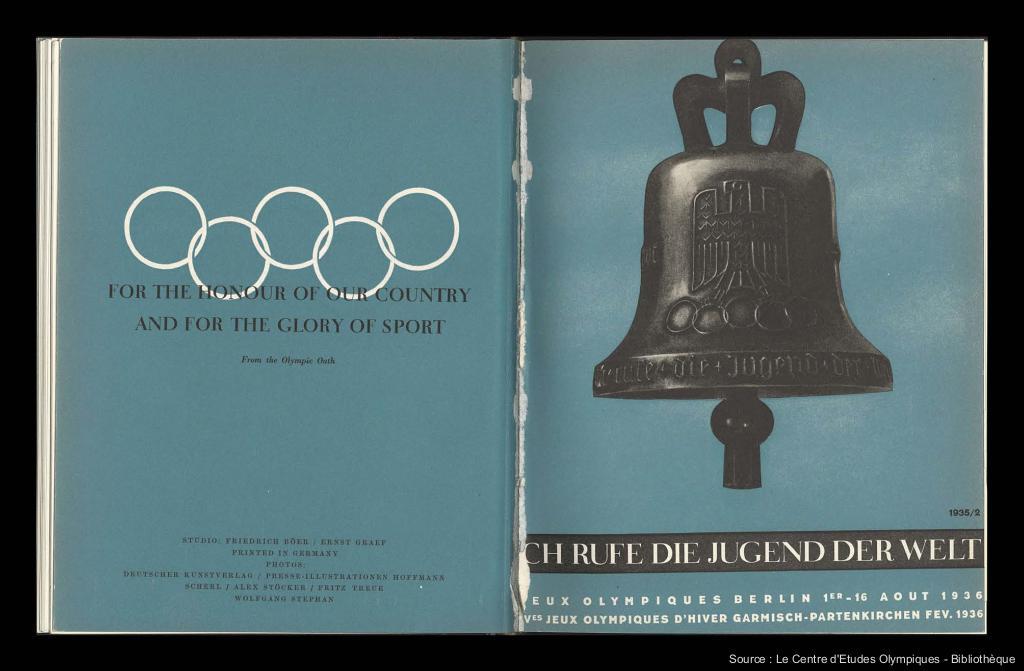 Guide officiel des Jeux Olympiques Berlin 1936 = Ich rufe die Jugend der Welt / Organisationskomitee für die XI. Olympiade Berlin 1936 ; [Friedrich Böer, Ernst Graef] | Böer, Friedrich