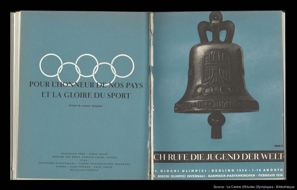 Guida per la celebrazione della XI Olimpiade Berlino 1936 = Ich rufe die Jugend der Welt / Comitato d'Organizzazione per la XI Olimpiade di Berlino 1936 ; [Friedrich Böer, Ernst Graef] | Böer, Friedrich