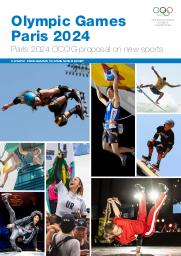Olympic Games Paris 2024 : Paris 2024 OCOG proposal on new sports : Olympic programme commission report / International Olympic Committee | International Olympic Committee