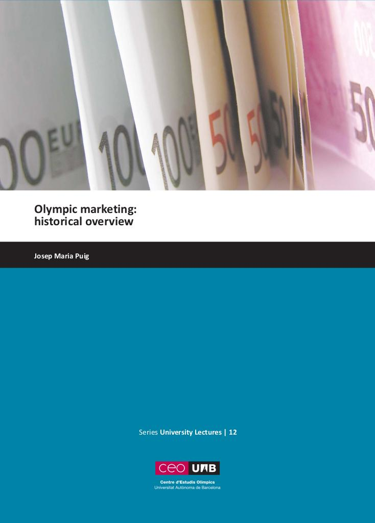 Olympic marketing : historical overview / Josep Maria Puig | Puig, Josep Maria