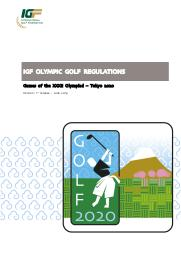 IGF Olympic golf regulations : Games of the XXXII Olympiad - Tokyo 2020 / International Golf Federation | International Golf Federation