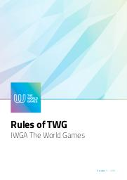 Rules of TWG : IWGA the World Games / International World Games Association | Association Internationale des Jeux Mondiaux