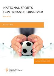 National sports governance observer : final report / Arnout Geeraert (ed.) | Geeraert, Arnout