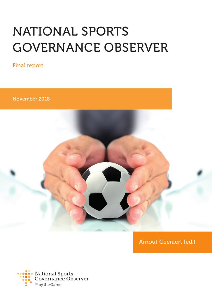 National sports governance observer : final report / Arnout Geeraert (ed.) | Geeraert, Arnout