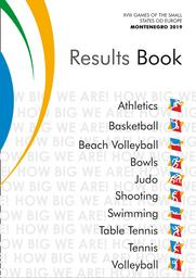 Results books : XVIII Games of the small States of Europe Montenegro 2019  