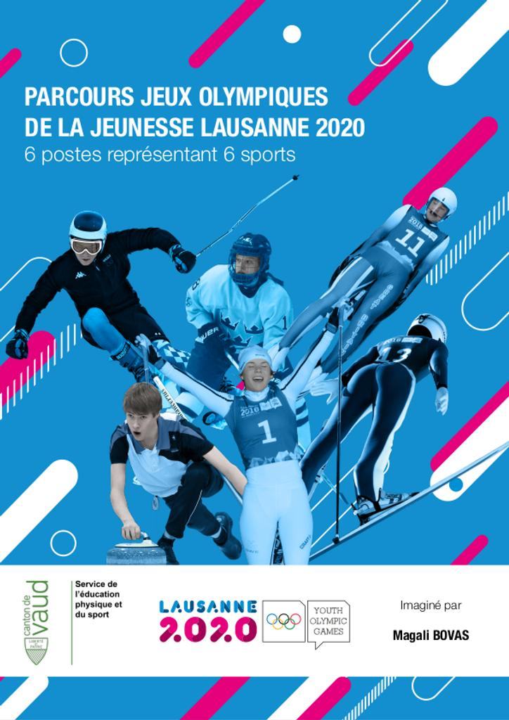 Parcours Jeux Olympiques de la Jeunesse Lausanne 2020 : 6 postes représentant 6 sports / imaginé par Magali Bovas | Bovas, Magali