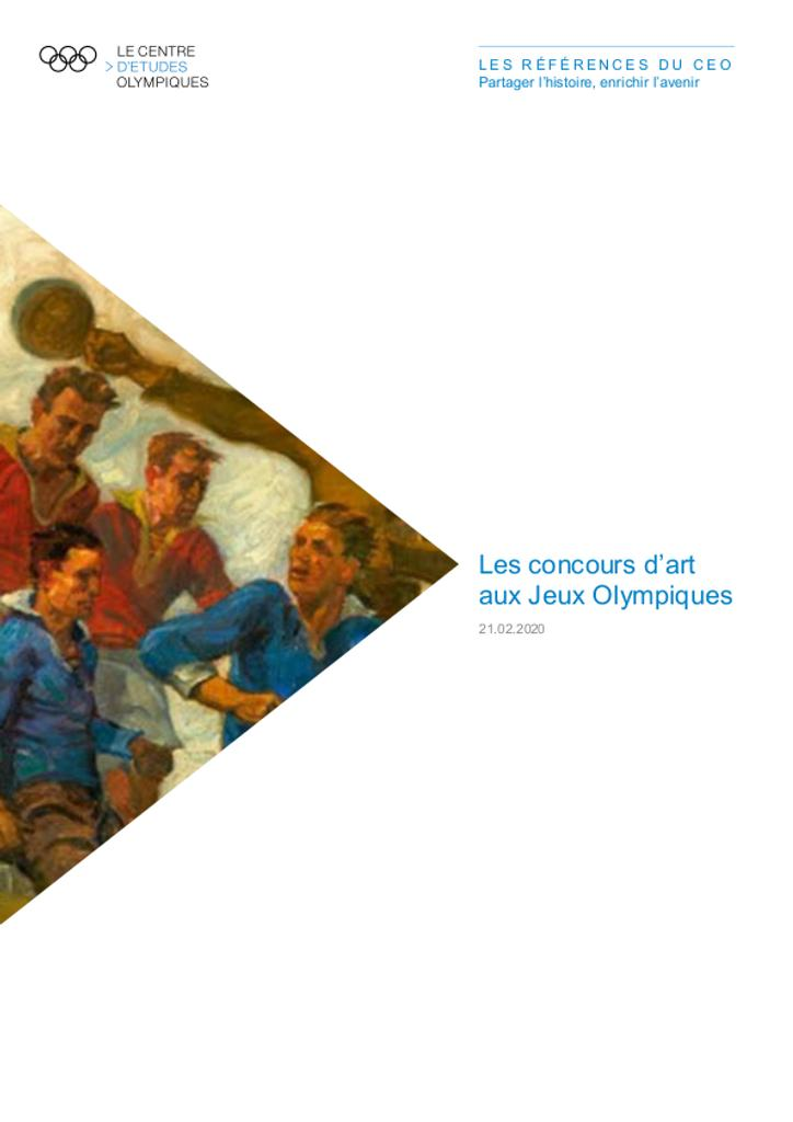 Les concours d'art aux Jeux Olympiques / Le Centre d'Etudes Olympiques | The Olympic Studies Centre