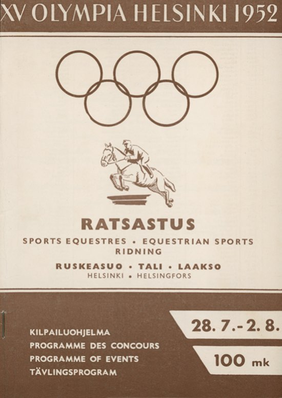 XV Olympia Helsinki 1952 : kilpailuohjelma = programme des concours = programme of events = tävlingsprogram / Järjestelytoimikunta | Jeux olympiques d'été. Comité d'organisation. 15, 1952, Helsinki