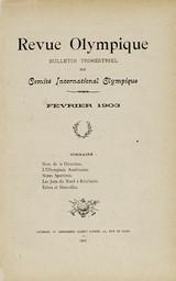 Revue olympique : bulletin trimestriel du Comité International Olympique. Février 1903 |